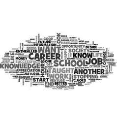 a change in career a change in you text word vector image vector image