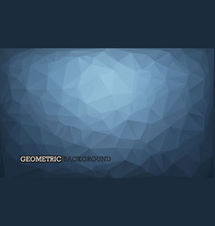 abstract background low poly style grey and dark vector image vector image
