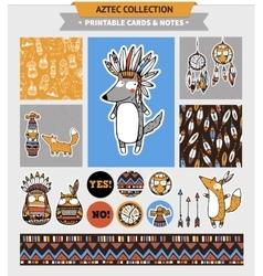 Aztec printable set vector