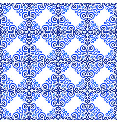 Blue background luxury weave pattern vector