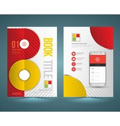 Brochure template design with new smartphone vector
