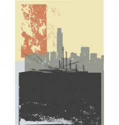 city grunge art vector image