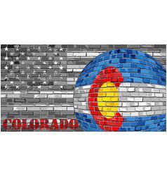 Colorado flag on the grey usa flag background vector