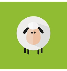 Cute Sheep Background vector image
