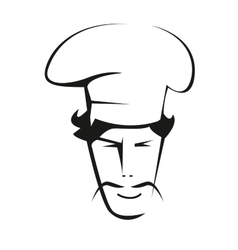 Doodle sketch of a handsome chef vector image vector image