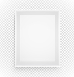 Empty picture frame isolated on transparent vector