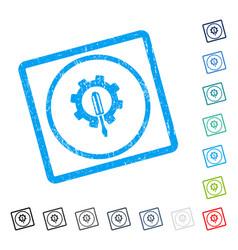 engineering icon rubber watermark vector image