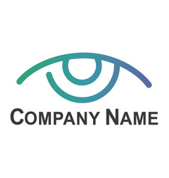 eye logo design idea vector image vector image