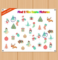 Finding the Same Picture Educational Game for vector image