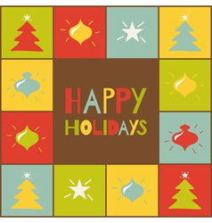 holiday card vector image vector image