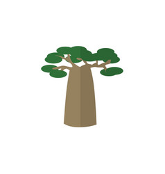 isolated decoration tree flat icon baobab vector image vector image