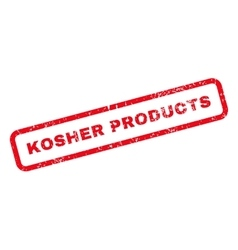 Kosher Products Text Rubber Stamp vector image vector image