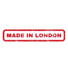 Made in london rubber stamp vector
