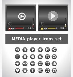 media players on white background vector image vector image