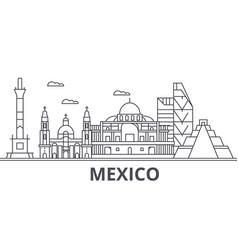 mexico architecture line skyline vector image