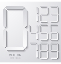 Modern electronic numbers set vector