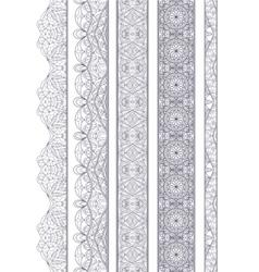 Ornamental Seamless Borders Set for Decor vector image vector image
