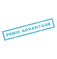 Penis advantage rubber stamp vector