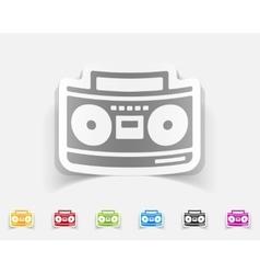 realistic design element cassette recorder vector image