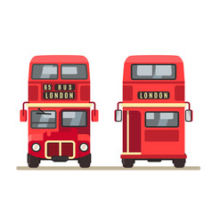 red traditional london bus vector image vector image