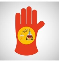 Sciencie glove and process distillation vector