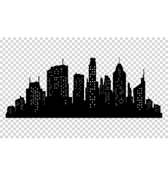 Set of city silhouette and elements for vector image