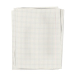 Stack of squared sheets of paper isolated on white vector image