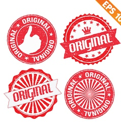 Stamp sticker original collection - - eps10 vector