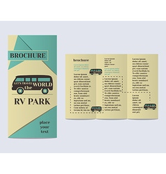 Travel and Camping Brochure Flyer design Layout vector image