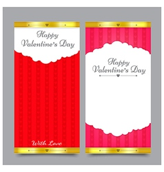 Valentines Card Design 001 vector image vector image