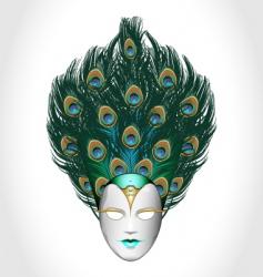 vector peacock mask vector image vector image