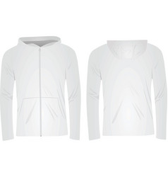 white hoodie vector image vector image