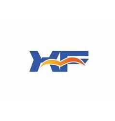 XF Logo Graphic Branding Letter Element vector image vector image