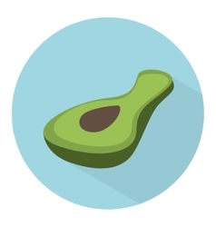 Avocado vegetable icon vector
