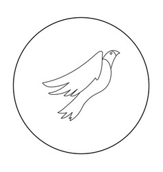 american eagle icon in outline style isolated on vector image
