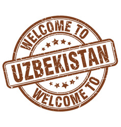 Welcome to uzbekistan vector
