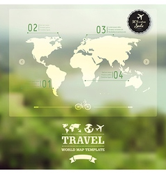 Blurred natural landscape map on blurry background vector