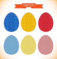 Easter egg designs vector