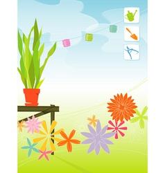 spring garden vector image