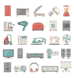 Flat icons home appliance vector
