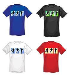 soccer t-shirts for men vector image