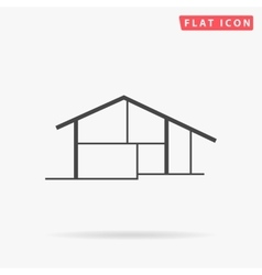 Cottage simple flat icon vector