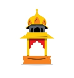 Indian temple with arch cartoon vector