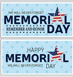 Happy memorial day greeting card flyer happy vector
