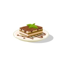 Traditional italian tiramisu vector
