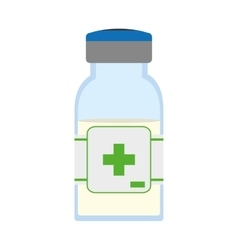 Medicine jar icon medical and health care vector