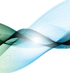 abstract flowing lines background 2208 vector image vector image