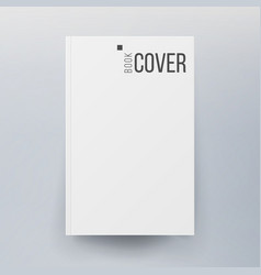 Blank cover book realistic vector