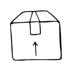 Box doodle isolated vector