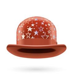 Brown starred bowler hat vector